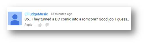 Super Girl makes DC Comic in Rom Com