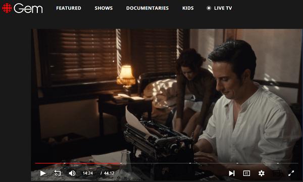 Murdoch Mysteries online on CBC Gem working